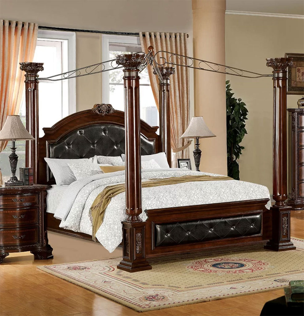 Classically Elegant Canopy Beds| Astoria Grand Edmore Upholstered Canopy Bed