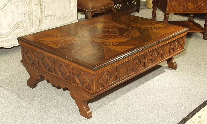 Traditional Wooden Coffee Tables | Verona Coffee Table with Storage