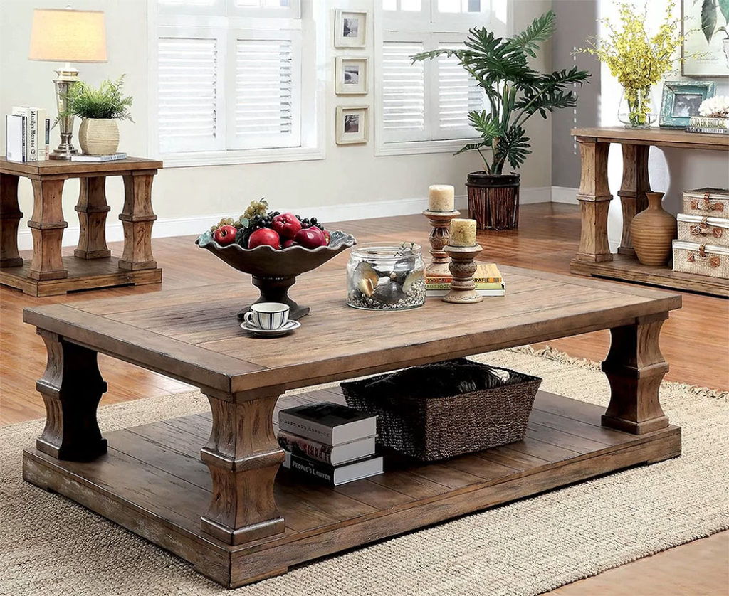 Rustic Wood Coffee Tables | Gracie Oaks | Charlotte 3 Piece Coffee Table Set