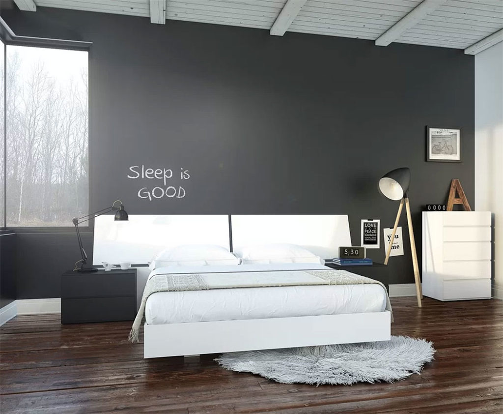 Modern Chalkboard Bedroom