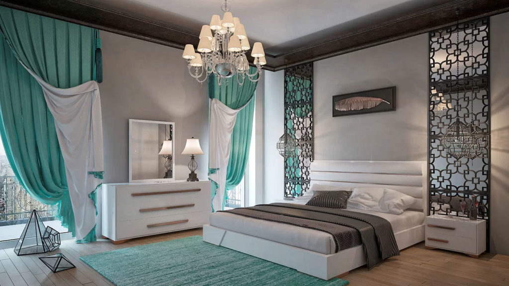 Modern Glam Bedroom Design