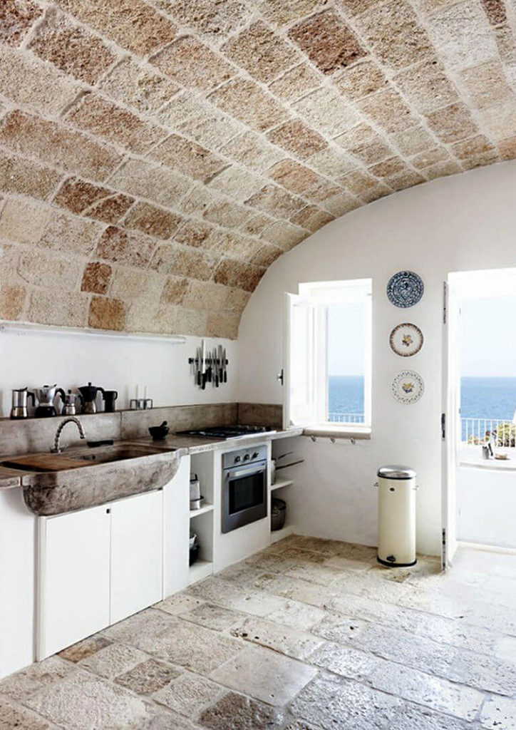 Airy Stone Kitchen Ceiling