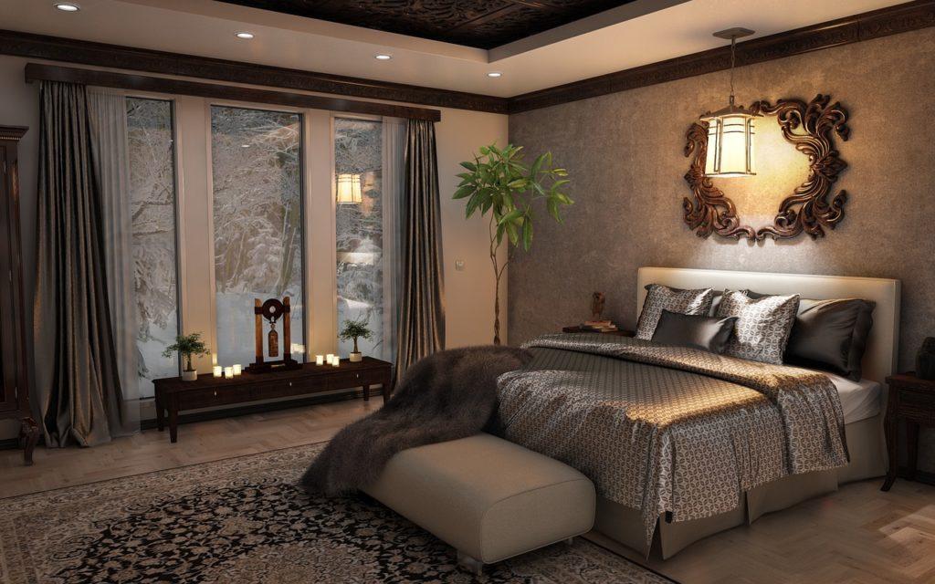 Beautiful Cozy Winter Retreat Bedroom