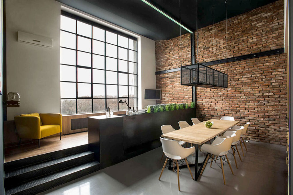Brick and Iron Industrial Loft by Gaspar Bonta