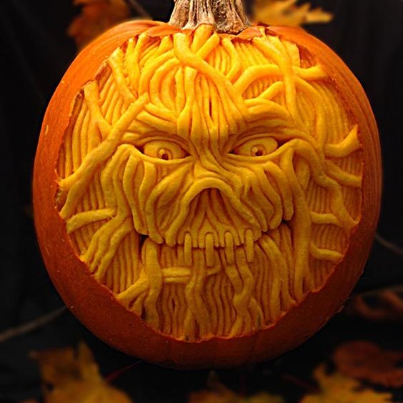 Creative Pumpkin Carving Ideas | Carved String Pumpkin