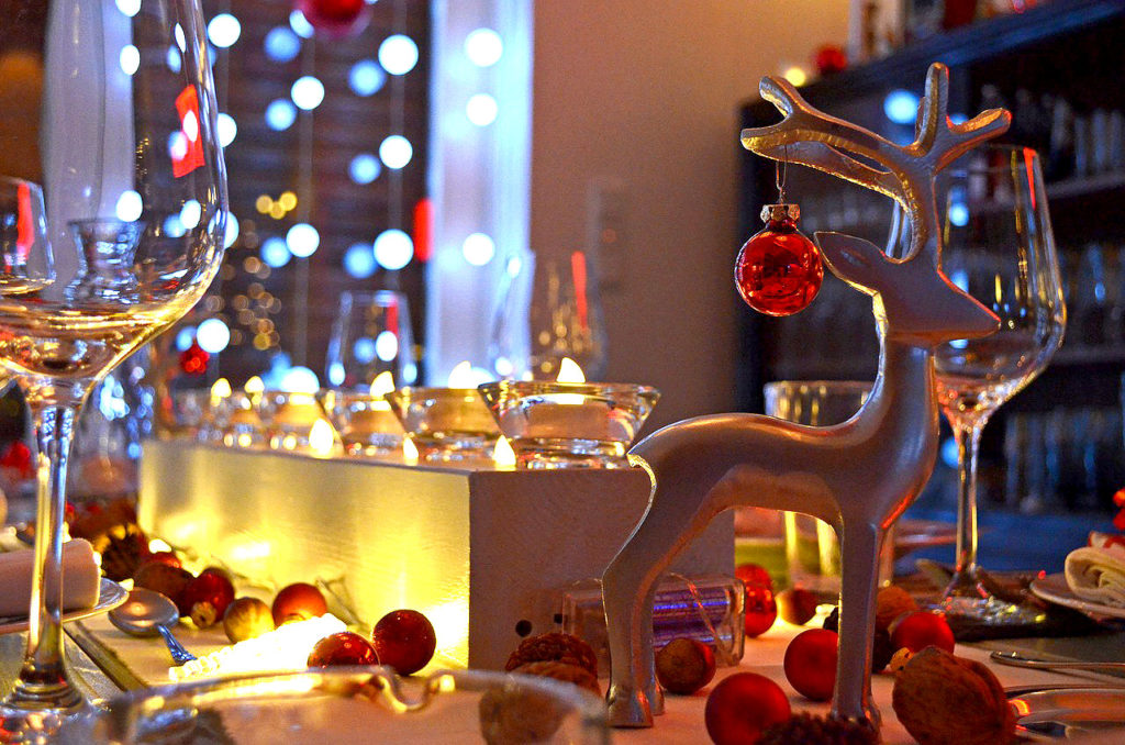 Reindeer Christmas Table Decor