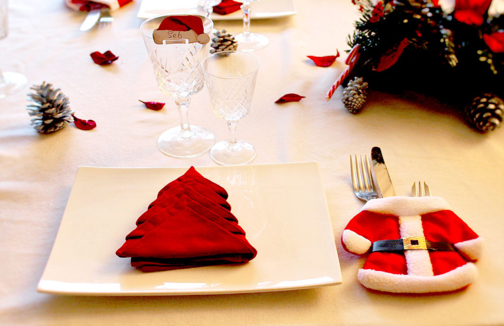 Santa Claus Christmas Table Settings