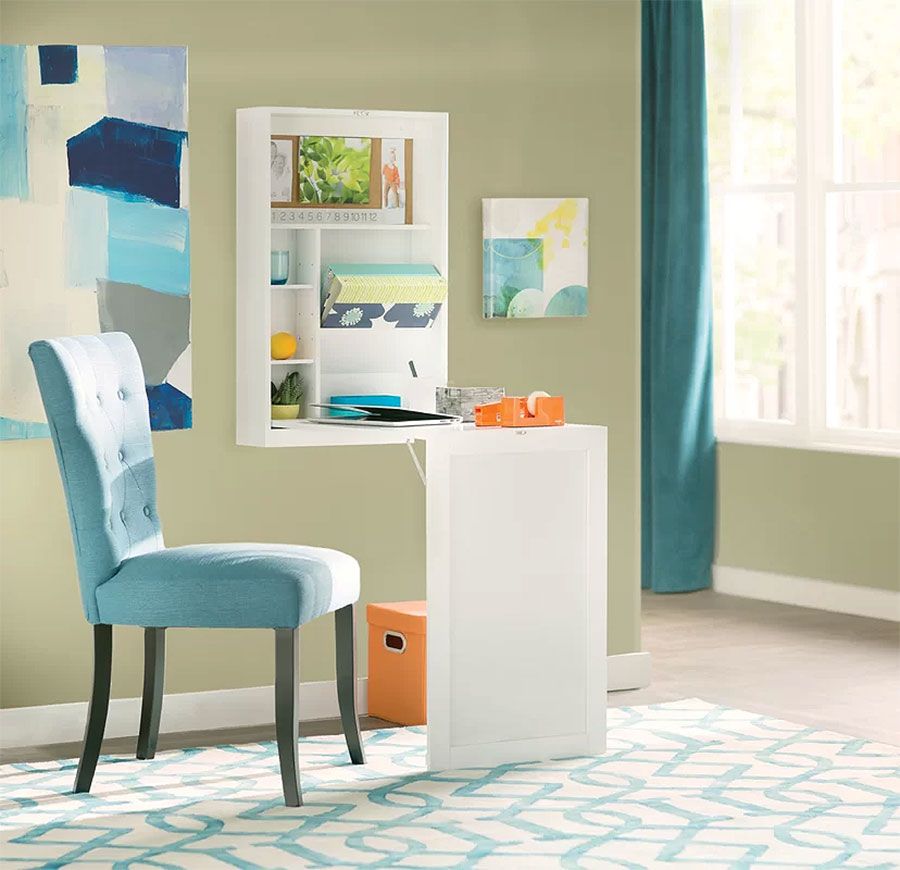 Multipurpose Furniture | Diamond Floating Wall-Mounted Desk