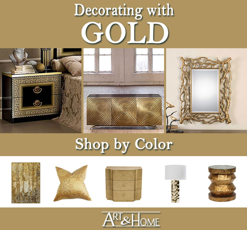 Gold Furniture & Home Decor Accents