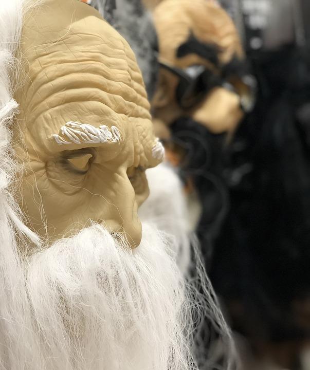 Using Old Halloween Masks to make DIY Halloween Decor