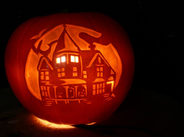 Creative Pumpkin Carving Ideas | Haunted House Pumpkin