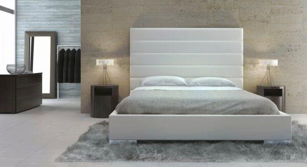 Modloft Prince Upholstered Leather Platform Bed