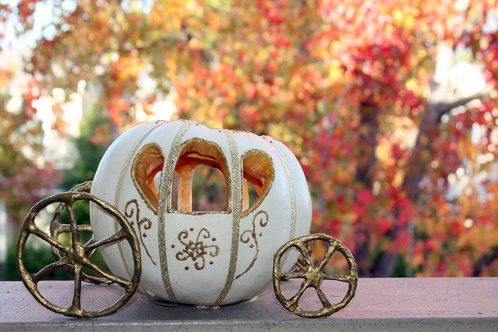 Cinderella Coach Pumpkin Carving