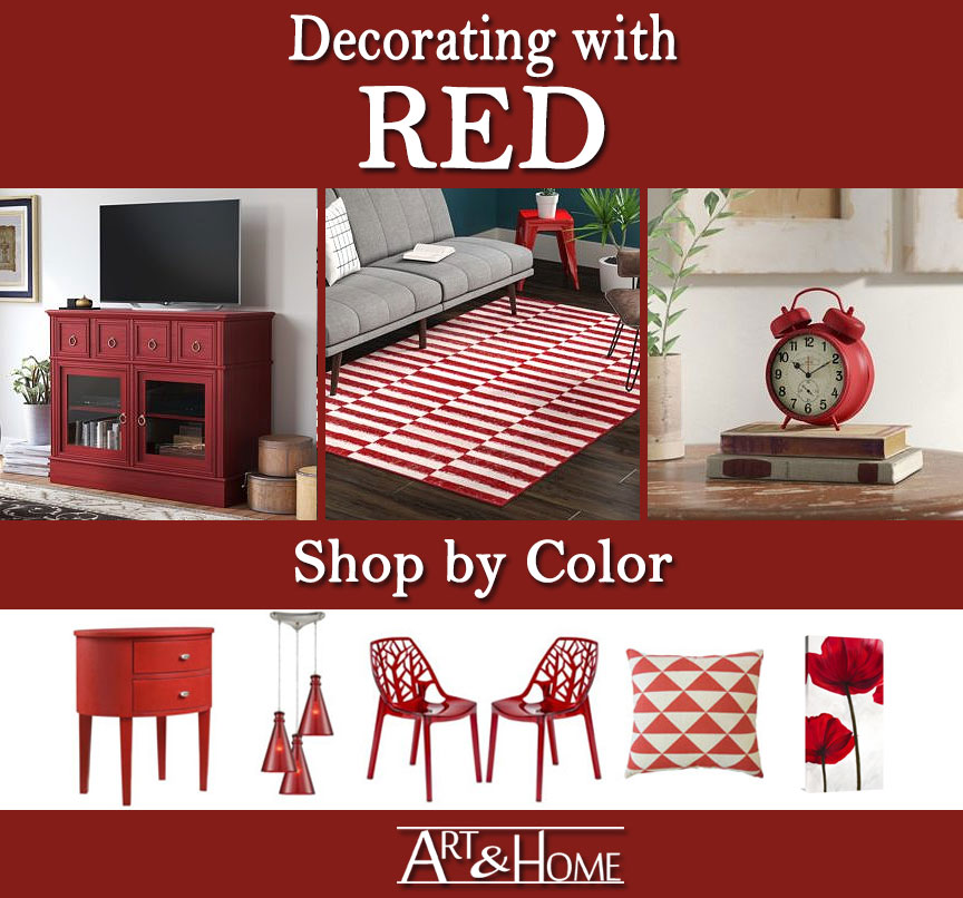Red Furniture Decor Decorate By Color Art Home