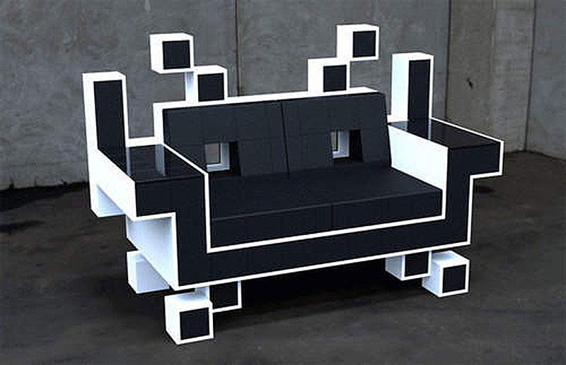 The Space Invaders Sofa Made for Gamers