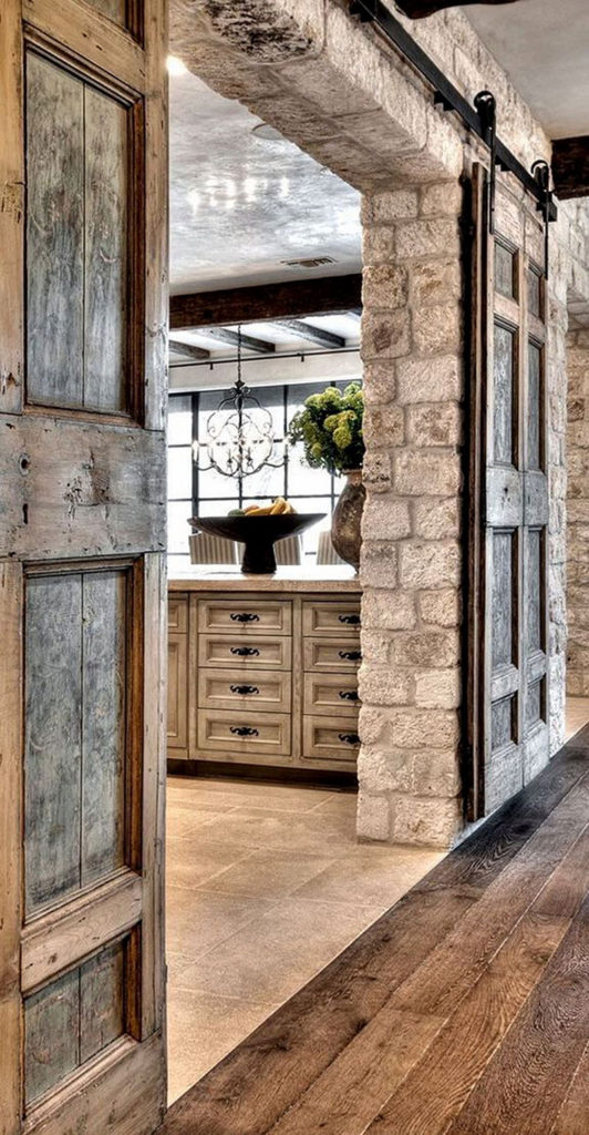 Stone Walls with Barn Doors