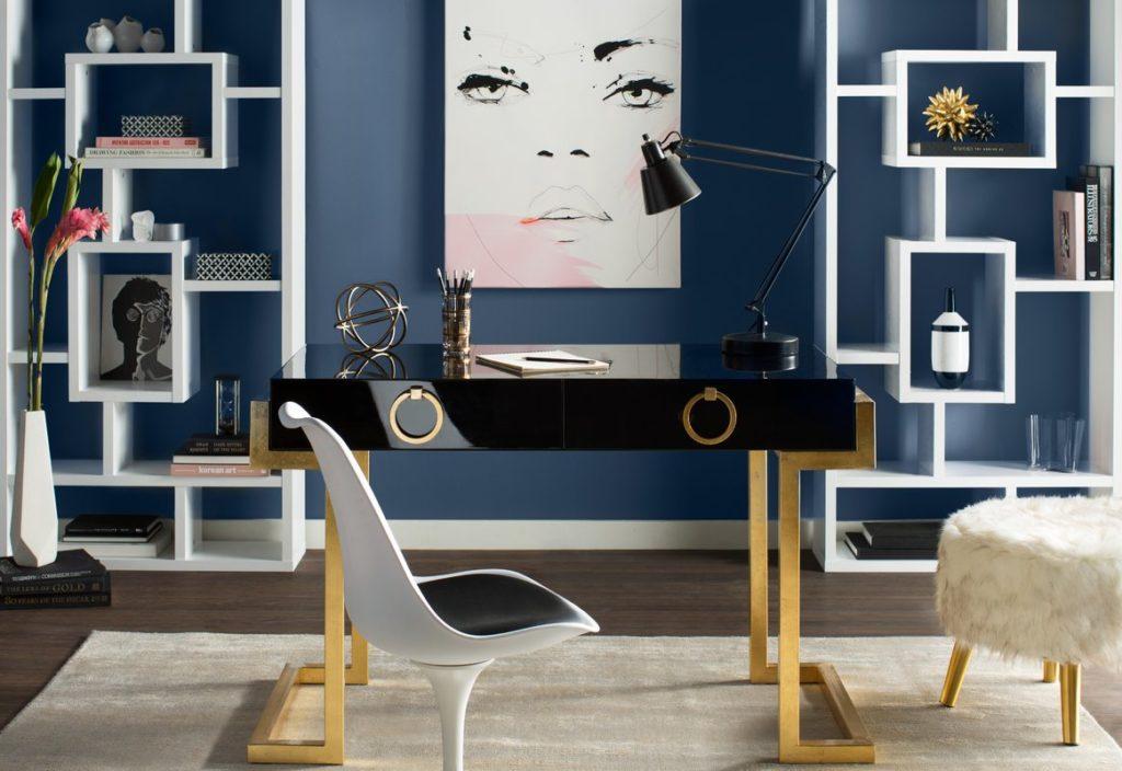 Blue home office Duck Egg Blue Home Office Design Artandhome Designed For Success Home Office Design Tips Art Home