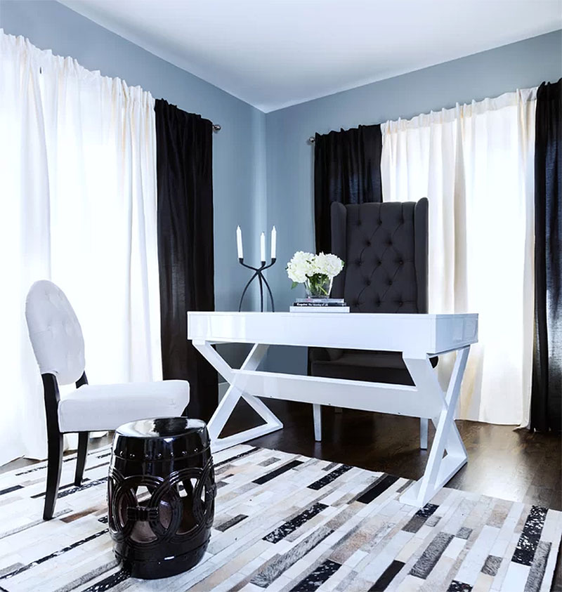 Blue Home Office Design