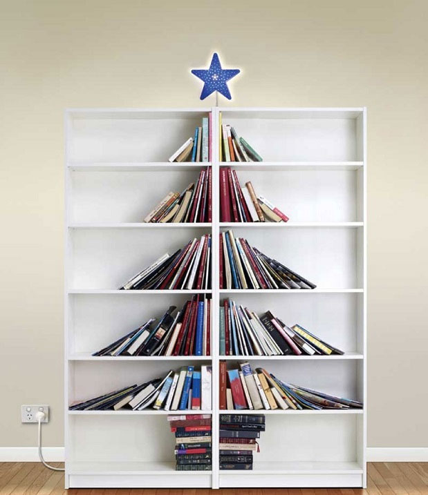 The Bookcase Christmas Tree for Book Lovers