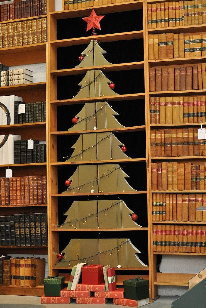 Carved Books Christmas Tree
