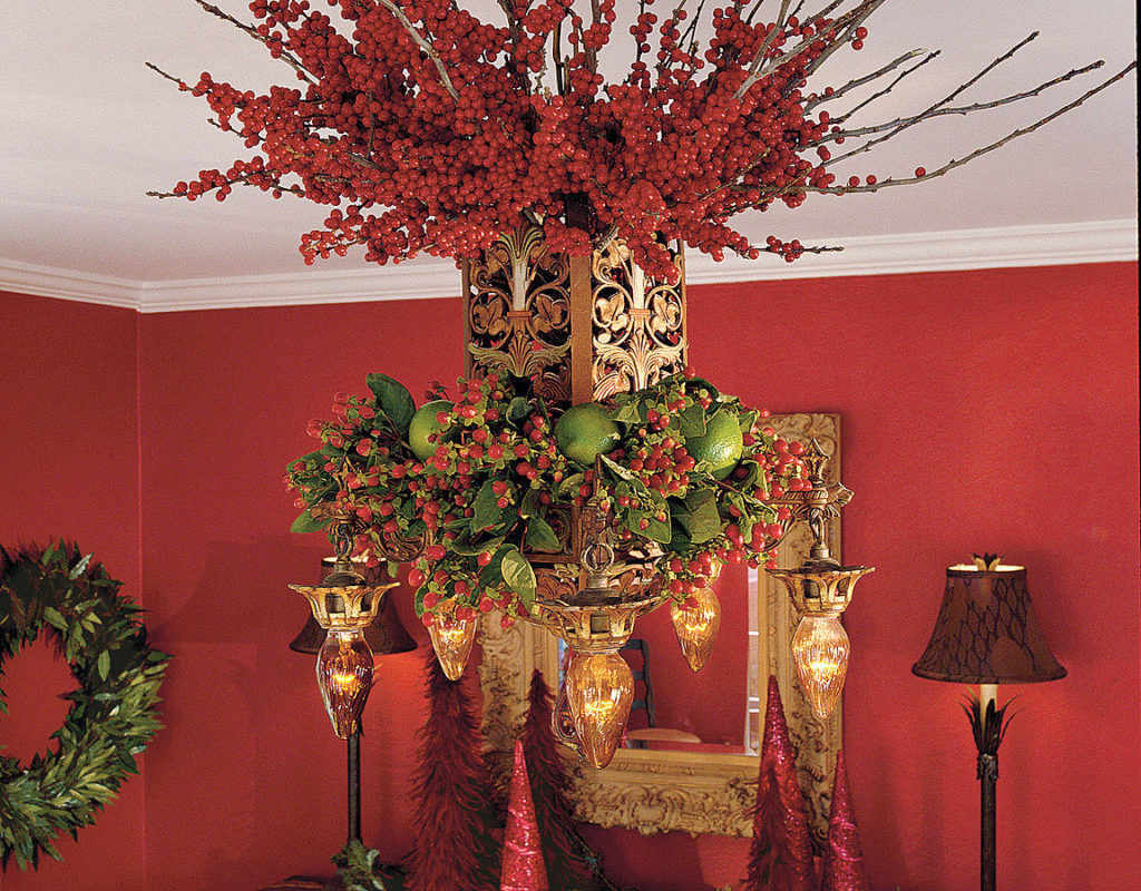 Celebration of Berries Christmas Chandelier