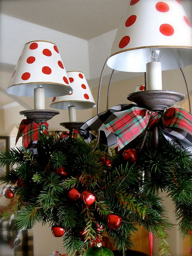 Charming Country Christmas Chandelier