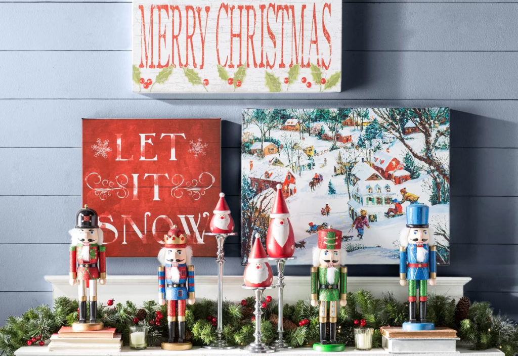 Christmas Collage Hall Table Decor