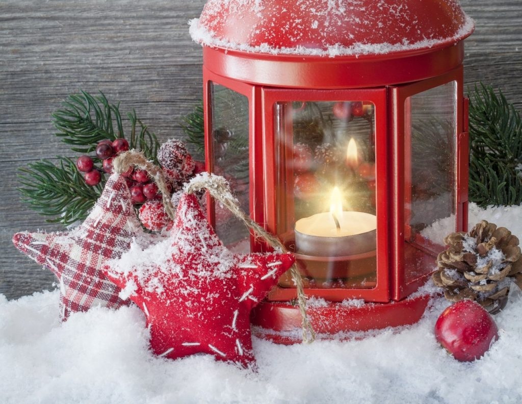 Christmas Decor Red Lantern