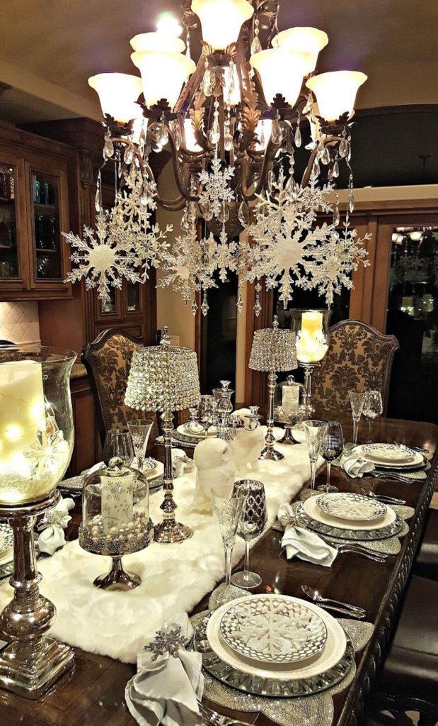 Christmas Snowflake Chandelier