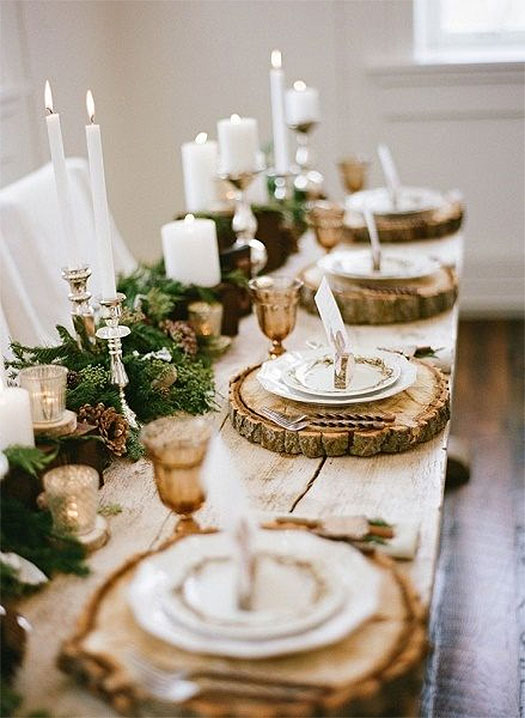 Christmas Table Setting Rustic Farmhouse Table