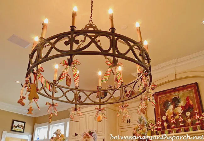Christmas Treats Decorated Chandelier