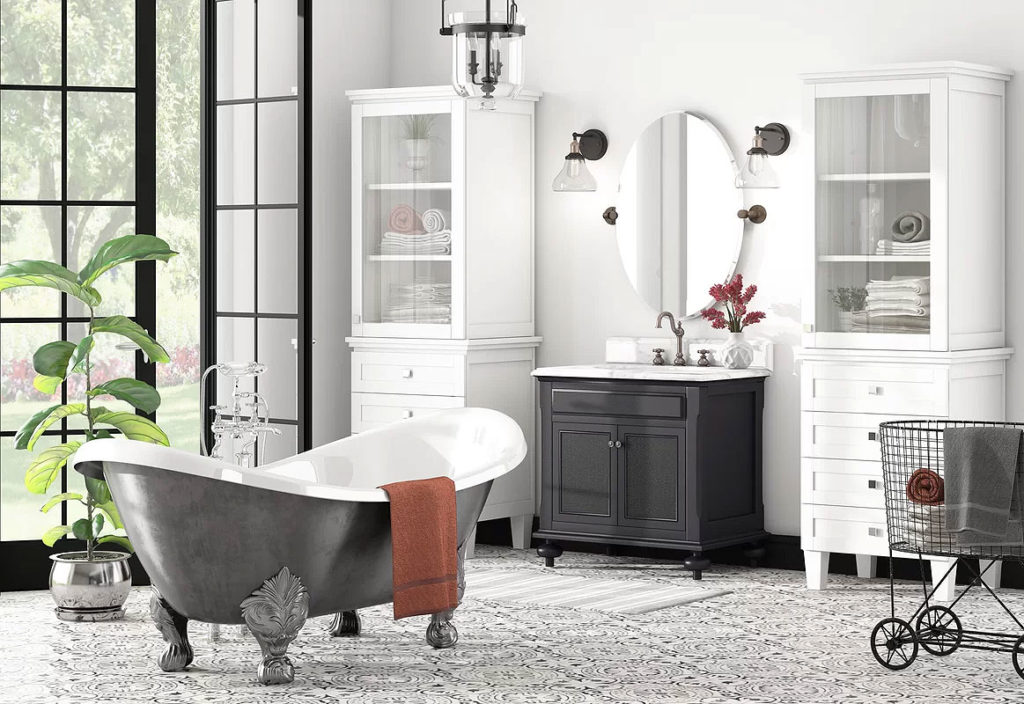Classic Black & White Bathroom