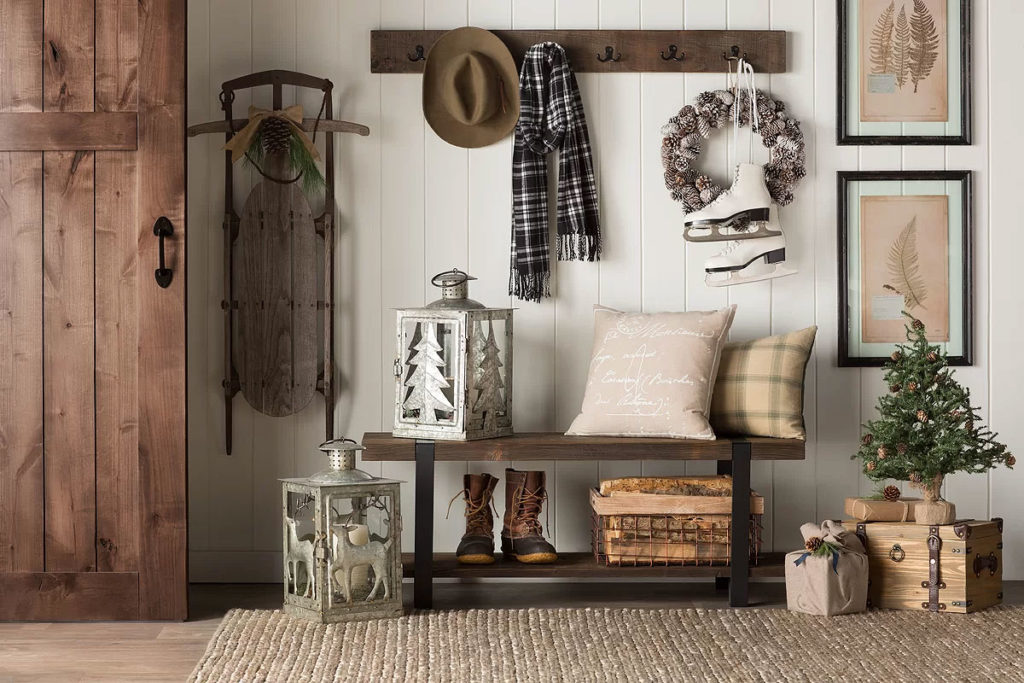Classic Country Christmas Foyer