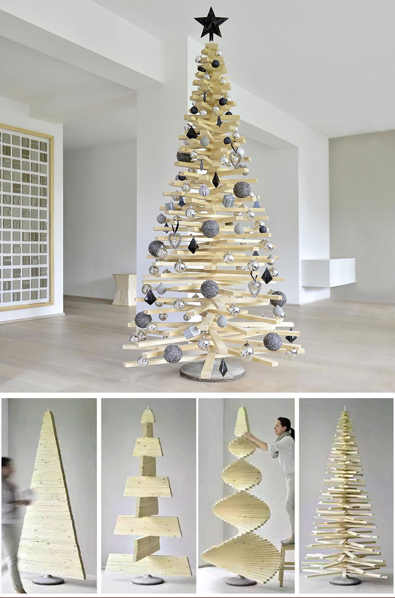 DIY Adjustable Wood Christmas Tree