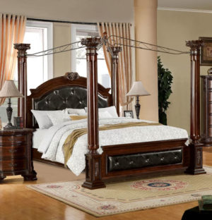 Edmore Upholstered Canopy Bed
