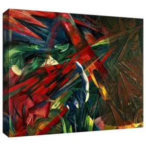 Fate of the Animals by Franz Marc Art Print on Canvas