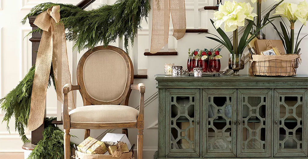 French Country Festive Hall Table