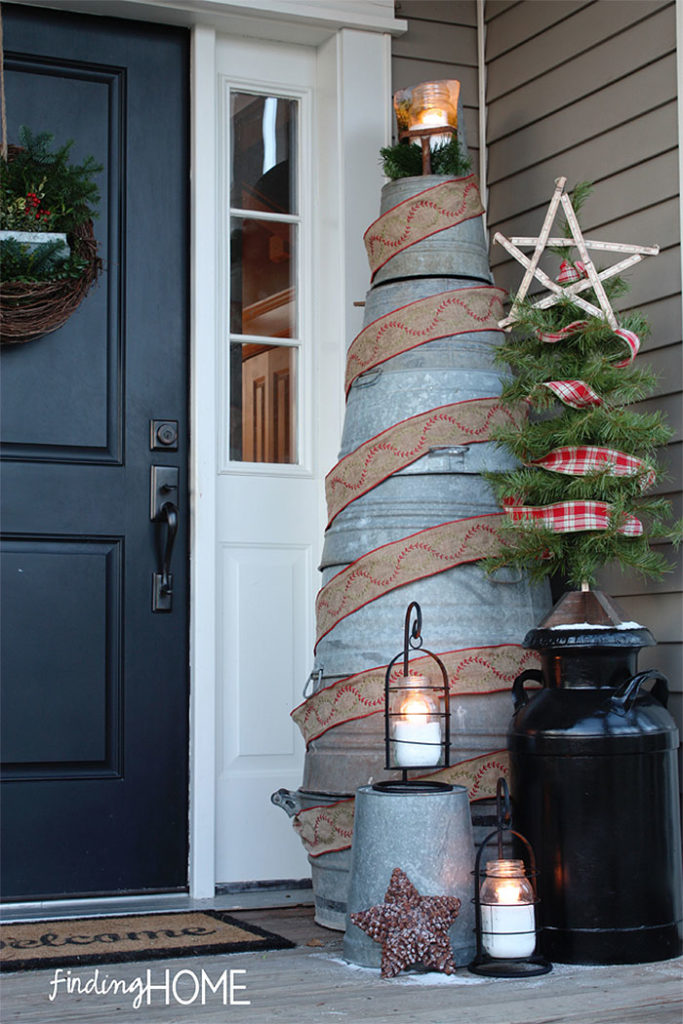 Galvanized Bucket Christmas Tree
