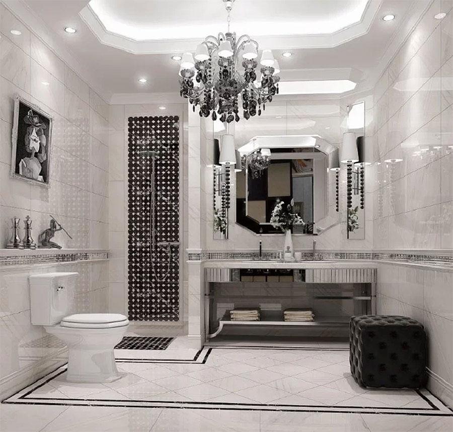 Glamorous Black & White Bathroom