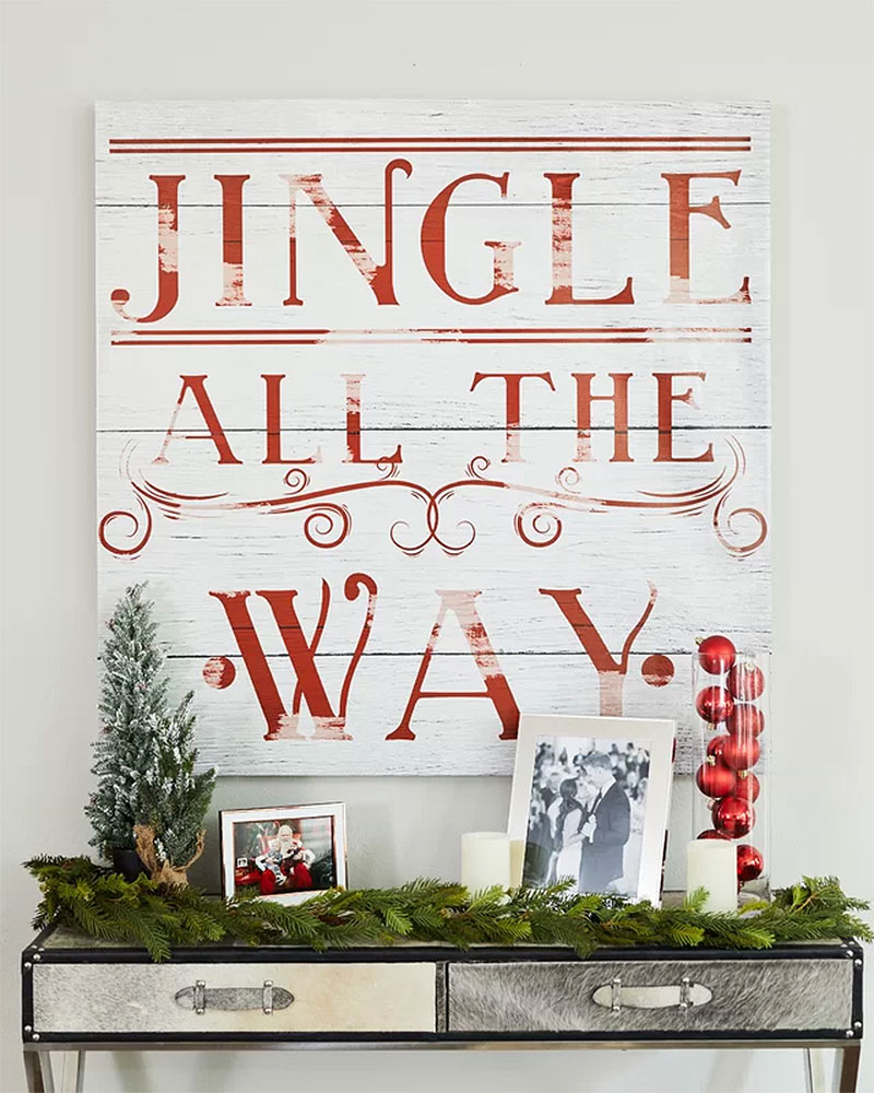 Jingle All The Way Christmas Hall Table
