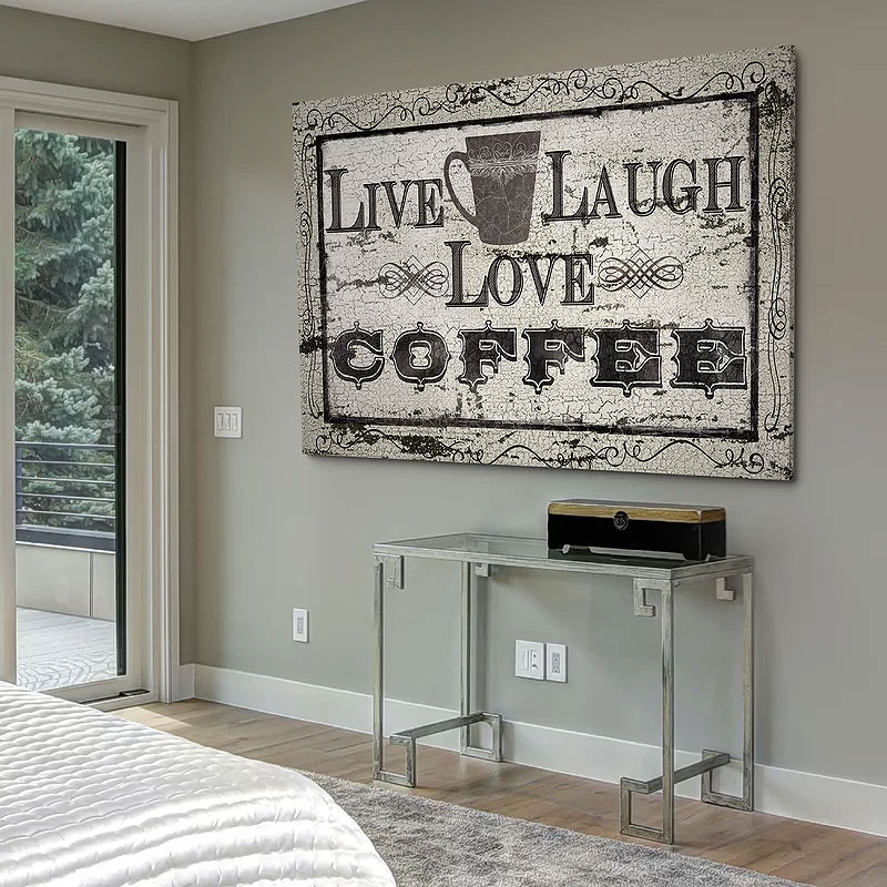 Live Laugh Love Coffee Canvas Art