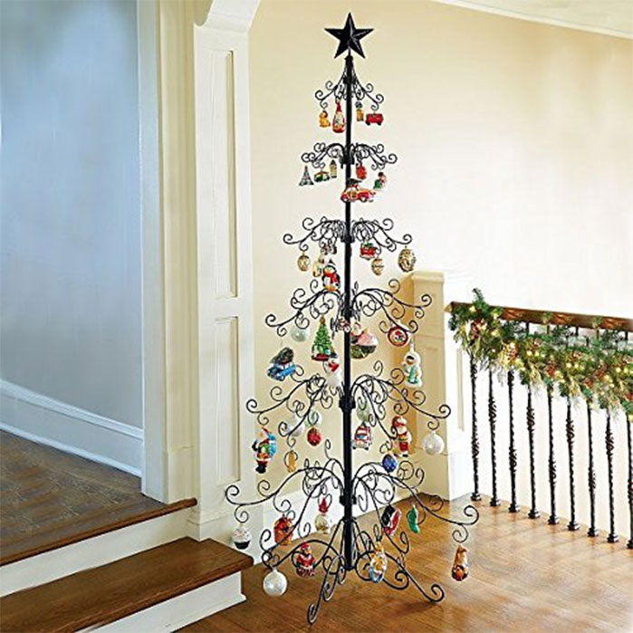 Metal Ornamental Christmas Tree Alternative