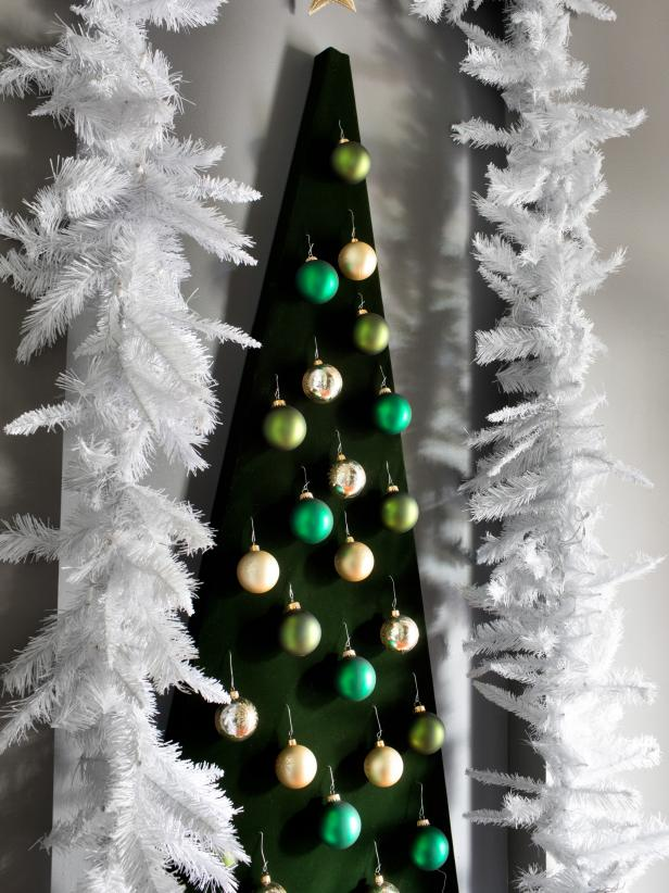 Modern Wall-Mounted Christmas Tree Alternative