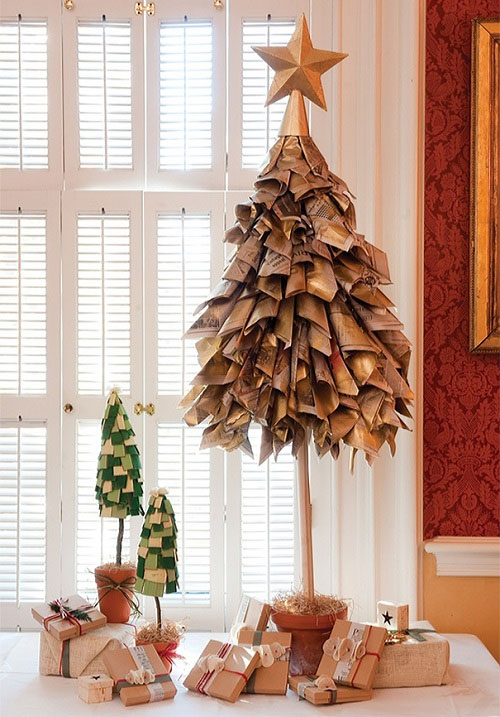 Recycled Paper DIY Christmas Tree