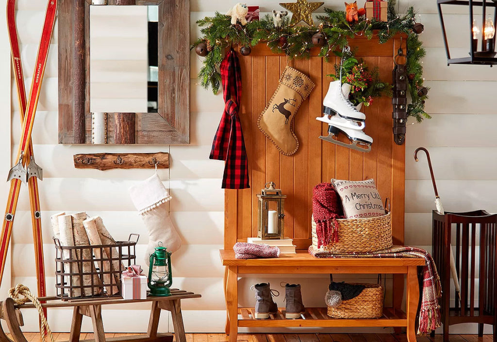 Rustic Christmas Hall Tree