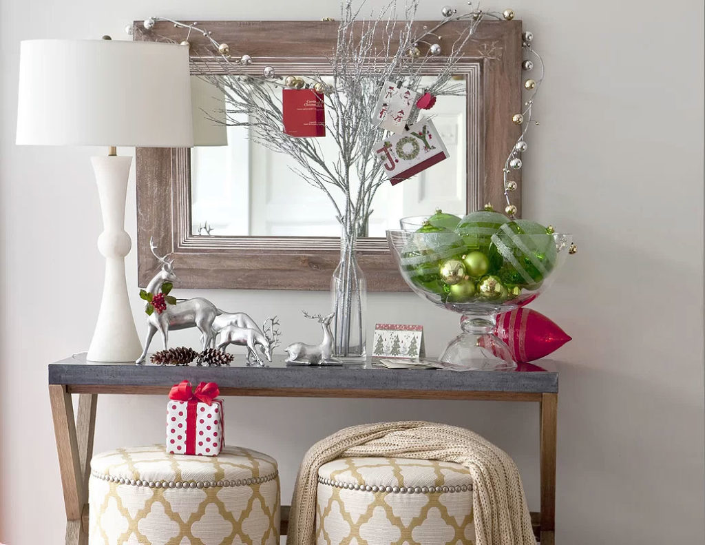 Rustic Winter Wonderland Christmas Hall Table