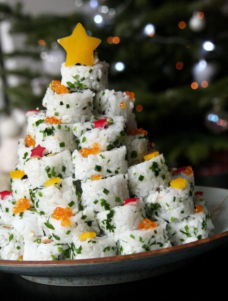 Sushi Christmas Tree Platter