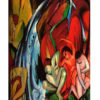 The Waterfall by Franz Marc Art Print on Canvas