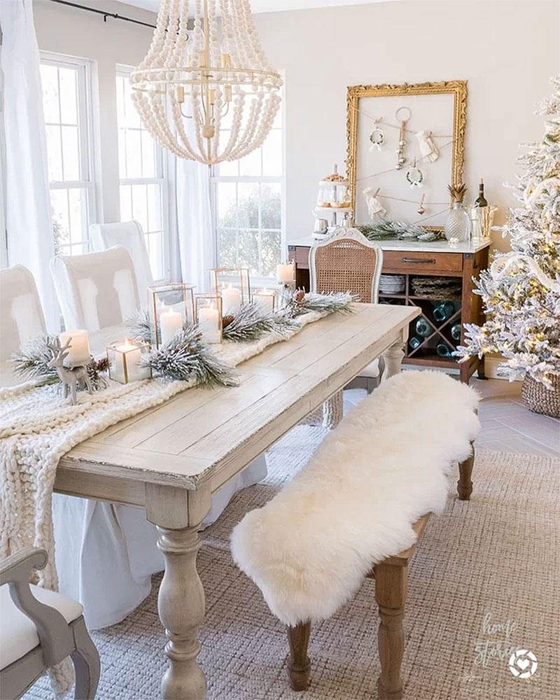 Wintry Warm French Country Christmas Tablescape