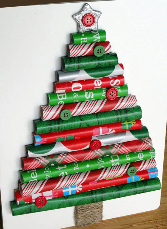 Wrapping Paper DIY Christmas Tree